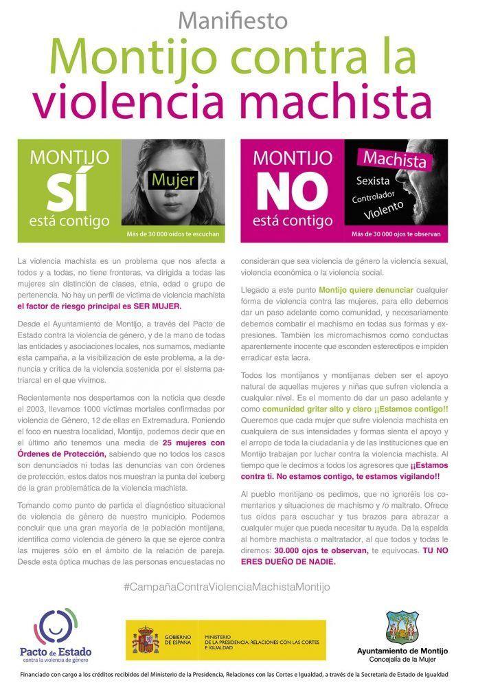Manifiesto Montijo contra la violencia machista