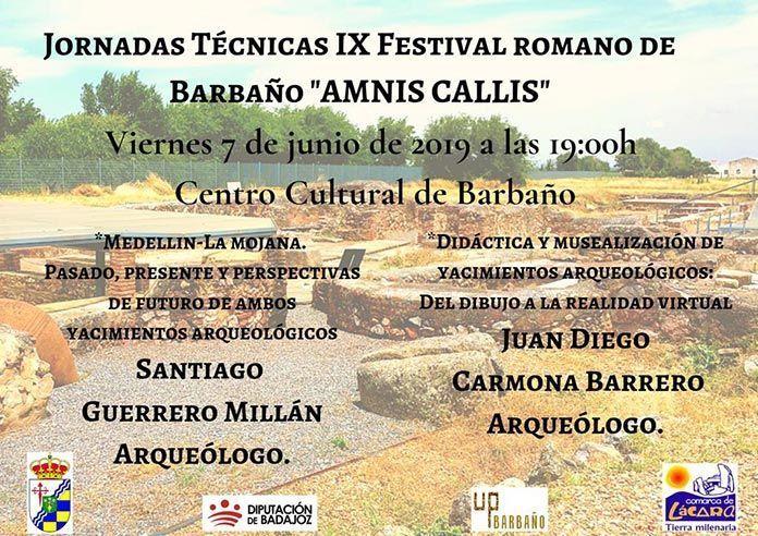 cartel-jornadas-tecnicas-IX-Festival-Romano-Amnis-Callis-de-Barbano