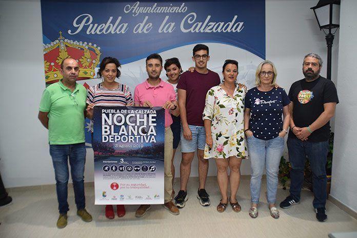 Los ingresos de la Noche Blanca Deportiva de Puebla de la Calzada se destinarán a la adquisición detectores de humo para personas mayores que vivan solas