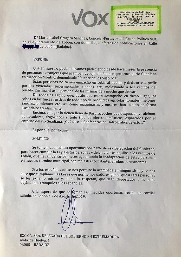 denuncia-vox-delegacion-del-govierno-campamentos-puente-lobon