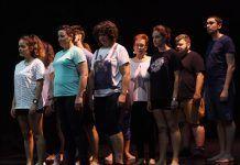 Participantes en el Taller de teatro grecolatino en Puebla de la Calzada