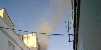 Incendio calle canovas montijo