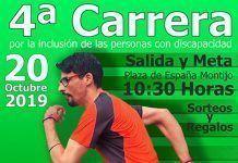 cartel IV Carrera Solidaria por la Inclusión de las Personas con Discapacidad plena inclusion montijo
