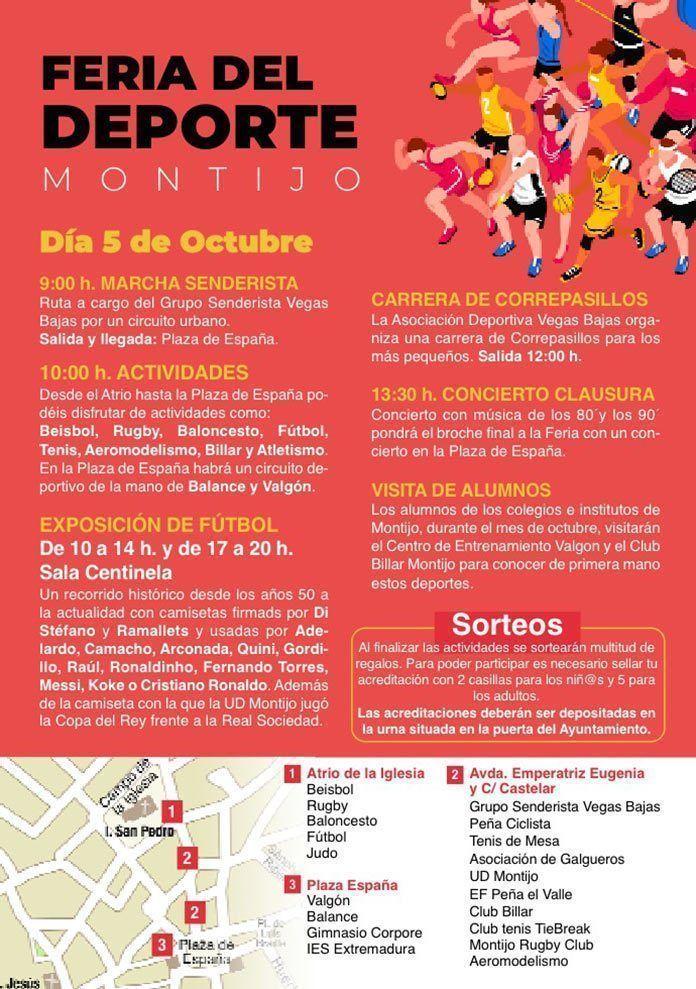 Programa Feria del Deporte Montijo 2019