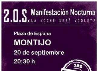 Noche violeta en Montijo: Manifestación Feminista Nocturna 20S