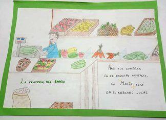 Lucía González Aceituna, ganadora del concurso de dibujos ComerciArte Montijo 2019