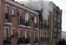 Una persona fallece en el incendio de un piso de la calle Gabriel y Galán de Montijo