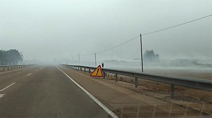 quema de rastrojos Ecologistas Extremadura denuncia a la Fiscalía de Medioambiente las quemas ilegales en las Vegas Bajas y Altas del Guadiana