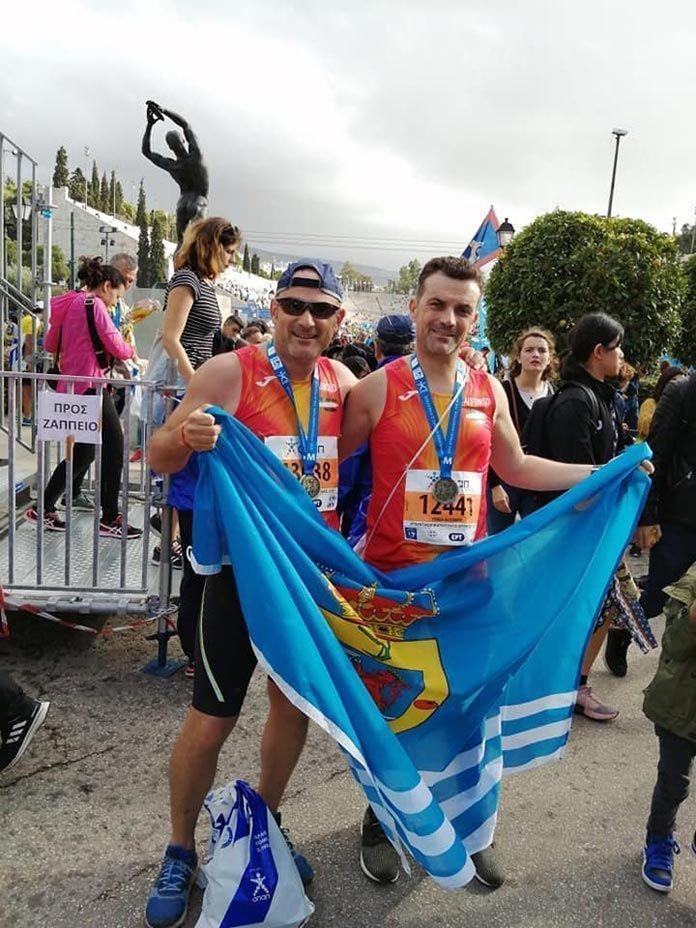 Alfonso Rodríguez Yerga y Manuel Pitel González, atletas de Guadiana participan en la Maratón de Atenas 2019