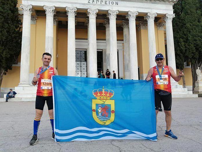 Alfonso Rodríguez Yerga y Manuel Pitel González Dos atletas de Guadiana participan en la Maratón de Atenas 2019