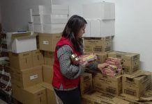 Cruz Roja Montijo está repartiendo más de 8.000 kilos de alimento en la comarca