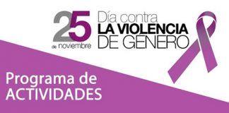 Cartel Programa de actividades en Guadiana con motivo del Día Mundial Contra la Violencia de Género