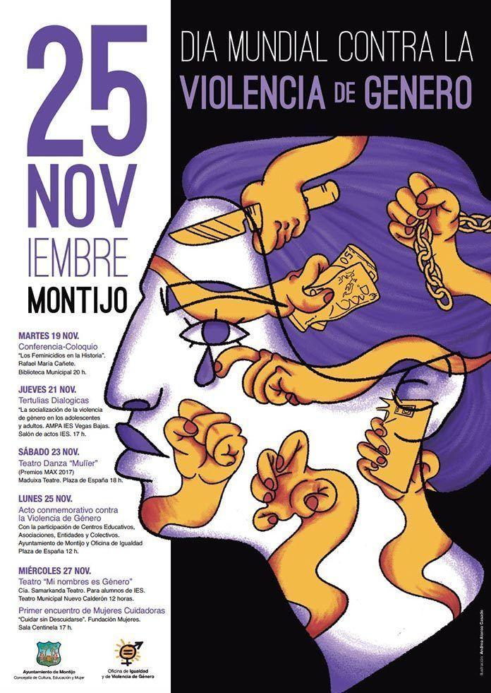 cartel programa actividades 25 noviembre montijo 2019