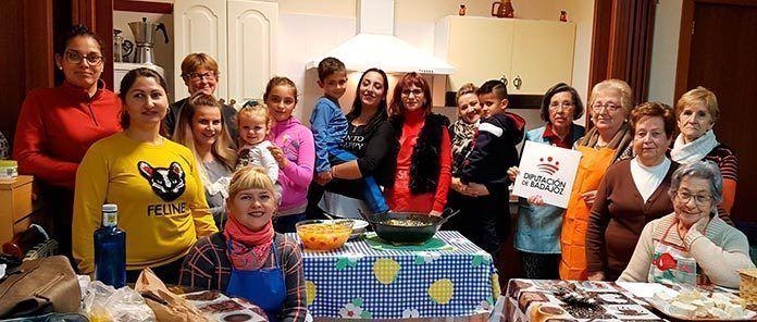 Taller de cocina de la Asociación de inmigrantes Vegas Bajas y la Asociación de Viudas de Montijo