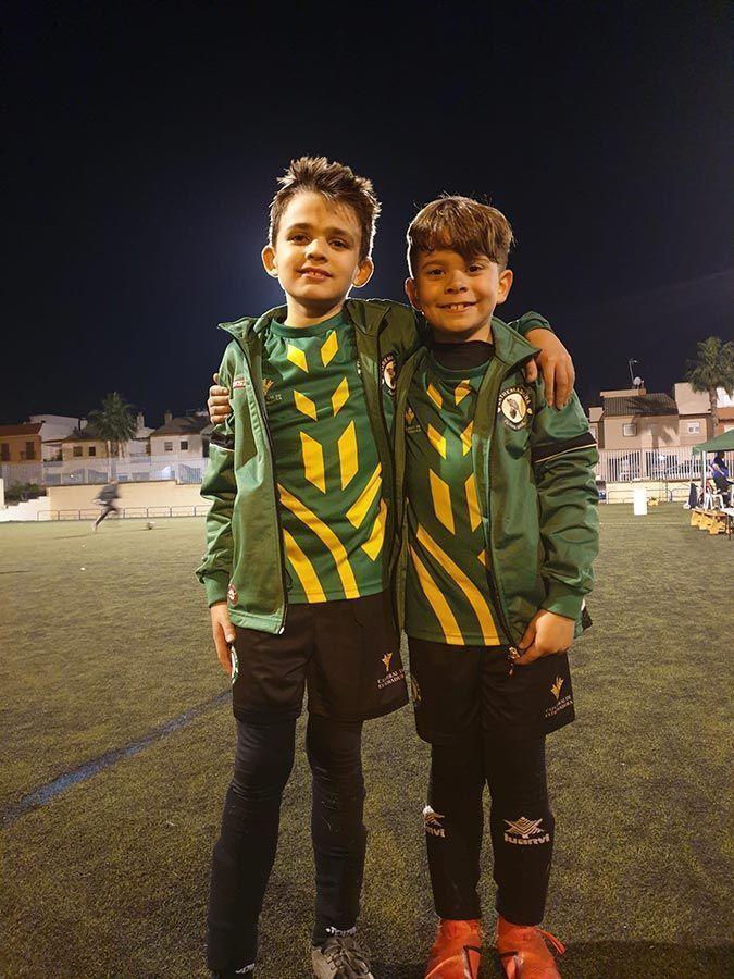 Borja Sánchez y Raúl Méndez con la selección extremeña durante el torneo.