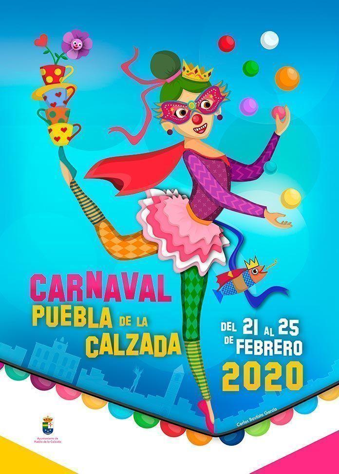 CARTEL carnaval PUEBLA de la calzada 2020 carlos bautista