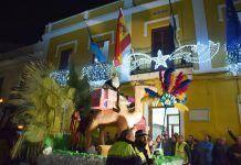 Cabalgata de Reyes Magos en Puebla de la Calzada.