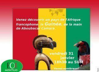 Charla sobre la francofonía y degustación de postre típico guineano