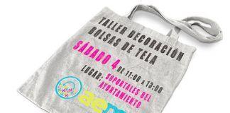 Taller de decoración de bolsas de tela, organizado por AEM