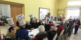 encuentro de Cocina Saludable en el centro de día de Lobón