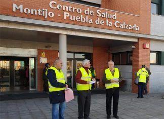 La Plataforma de pensionistas de Montijo finalizó el año repartiendo octavillas