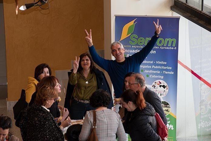 Sercom A8, la empresa de servicios de Plena Inclusión Montijo, fue la encargada del catering del evento.