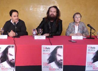 Joseán Moreno presenta el concierto que ofrecerá en Montijo