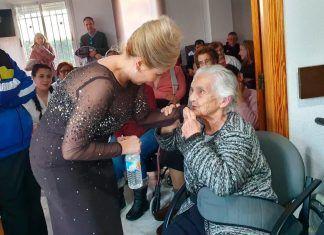 Pilar Boyero y Pedro Monty en la Residencia de Mayores Virgen de Barbaño