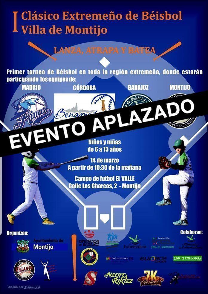 APLAZADO: I Clásico Extremeño de Béisbol Villa de Montijo