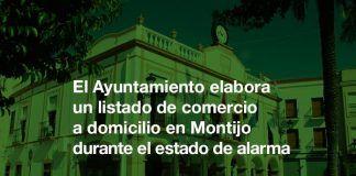 El Ayuntamiento realiza un listado de comercio a domicilio en Montijo durante el estado de alarma