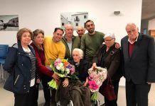 Acto homenaje por el 100 cumpleaños de Francisca Calleja.