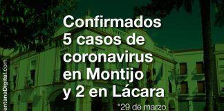 Confirmados 5 positivos en coronavirus en Montijo y 2 en Lácara