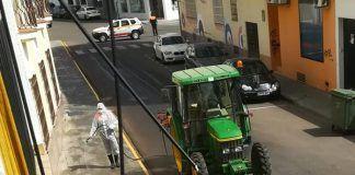 covid-19 desinfección de las calles de Montijo coronavirus