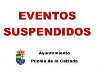 Eventos suspendidos en Puebla de la Calzada coronavirus