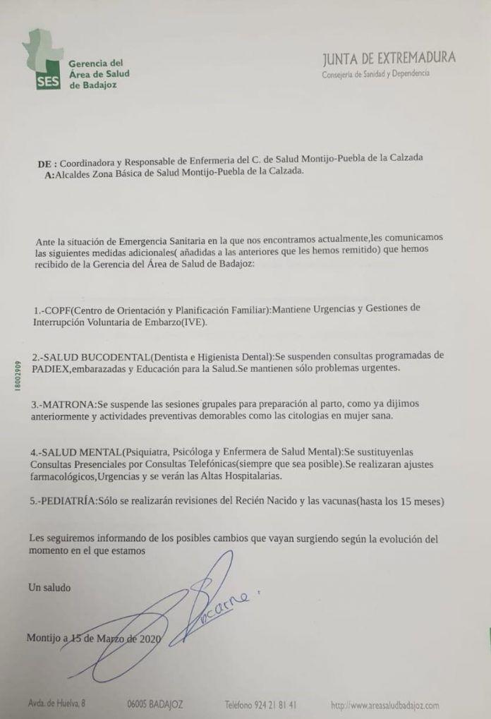 Centro de Salud de Montijo-Puebla de la Calzada: consultas
