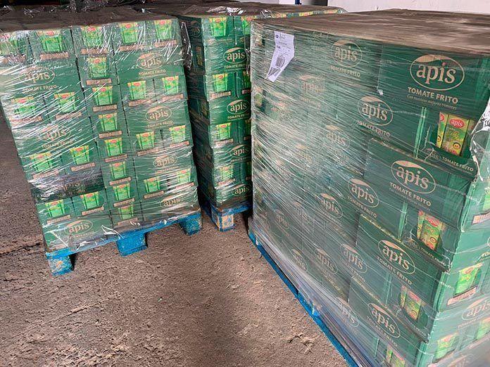 Carcesa y Lyon Eventos donan 7.000 kilos de tomates procesados para colectivos necesitados de Puebla de la Calzada