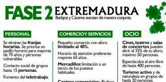 Extremadura entra en fase 2 de la desescalada por la COVID-19