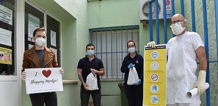 VÍDEO y FOTOS: El Ayuntamiento de Montijo reparte 200 kits de seguridad a empresarios y autónomos