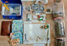 La Guardia Civil interviene diferentes tipos de droga a dos vecinos de Arroyo de San Serván