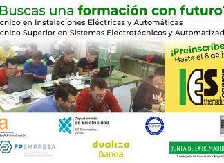 Estudiar Electricidad en el IES Extremadura de Montijo