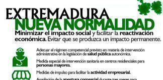 Medidas a la nueva normalidad en Extremadura