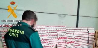 Intervenidas 228.000 cajetillas de tabaco de contrabando en Lobón, valoradas en más de un millón de euros