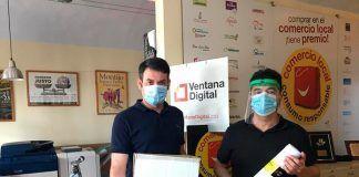 Ventana Digital Comunicación dona al Ayuntamiento de Torremayor packs de cartelería con información de seguridad contra la Covid-19