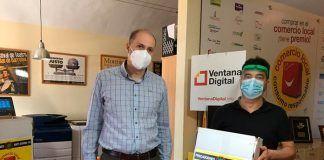 Ventana Digital Comunicación dona al Ayuntamiento de Valdelacalzada packs de cartelería con información de seguridad contra la Covid-19