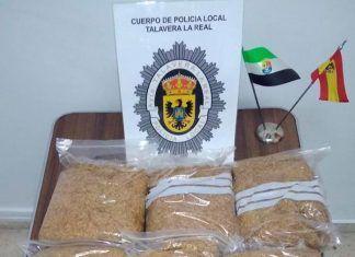 Intervenidos 7 kilos de tabaco picado de contrabando en Talavera la Real
