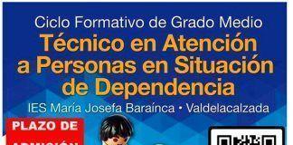 Convocada la admisión a la FP de Valdelacalzada en el IES María Josefa Baraínca