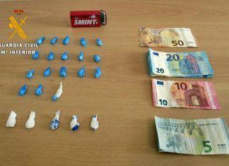 Intervenidas 23 papelinas de cocaína y MDMA a un vecino de Calamonte