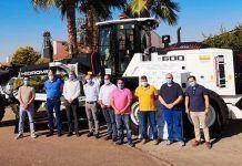 Mancomunidad Integral de Servicios Vegas Bajas recepciona una Motoniveladora Hidromek cedida por la Junta de Extremadura
