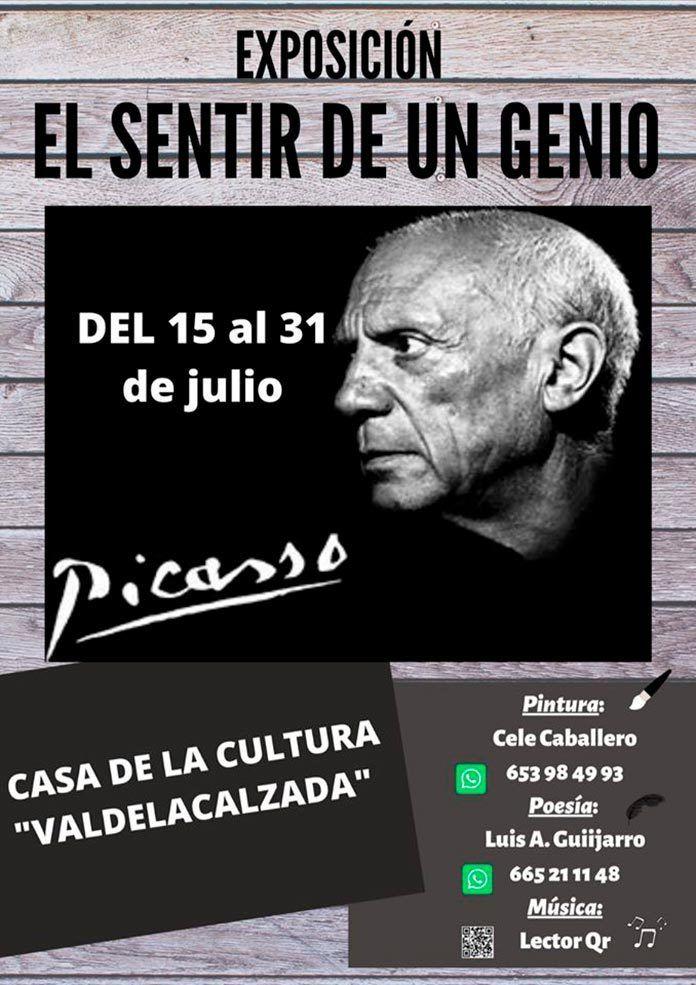 Exposición multidisciplinar sobre Picasso creada por Cele Caballero y Luis Alberto en Valdelacalzada