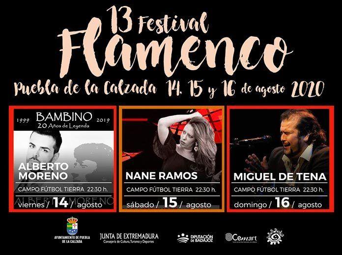El XIII Festival de flamenco en Puebla de la Calzada 2020 adopta medidas de seguridad contra la Covid-19